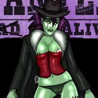 Pinup (impro Steam punk cowboy)